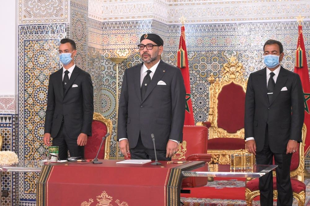 Sa Majesté le Roi Mohammed VI, que Dieu L'assiste, a adressé, mercredi, un Discours à la Nation à l'occasion du 21-ème anniversaire de l'accession du Souverain au Trône de Ses glorieux ancêtres.